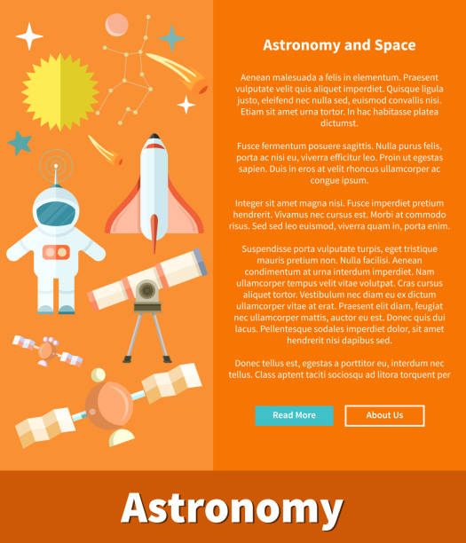 astronomy and space web page design - abstract of paper spaceship launch to space stock illustrations, clip art, cartoons, & icons