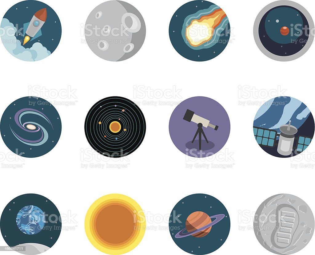Astronomy Circle Icons royalty-free astronomy circle icons stock vector art & more images of asteroid