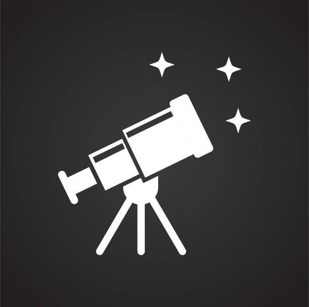 Astronomie-Symbol auf schwarzem Hintergrund für Grafik und Webdesign, modernen einfachen Vektor-Zeichen. Internet-Konzept. Trendige Symbol für Website-Design-Web-Taste oder mobile app. – Vektorgrafik