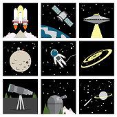Space, Galaxy, Star - Space, Star Shape, Moon