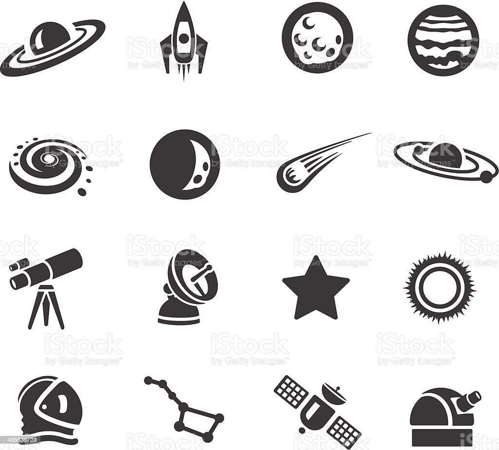 Astronomy Symbols vector art illustration