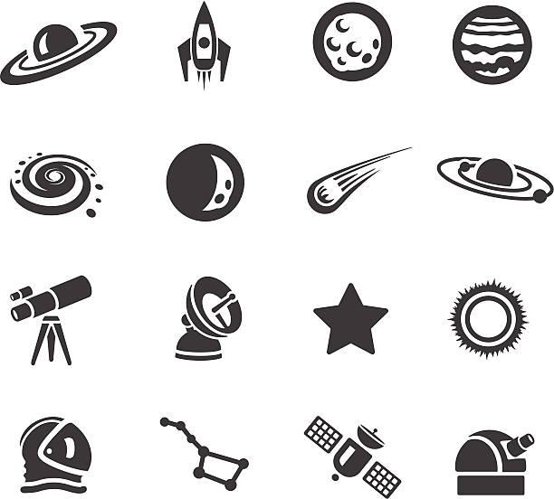astronomie symbole - sternwarte stock-grafiken, -clipart, -cartoons und -symbole