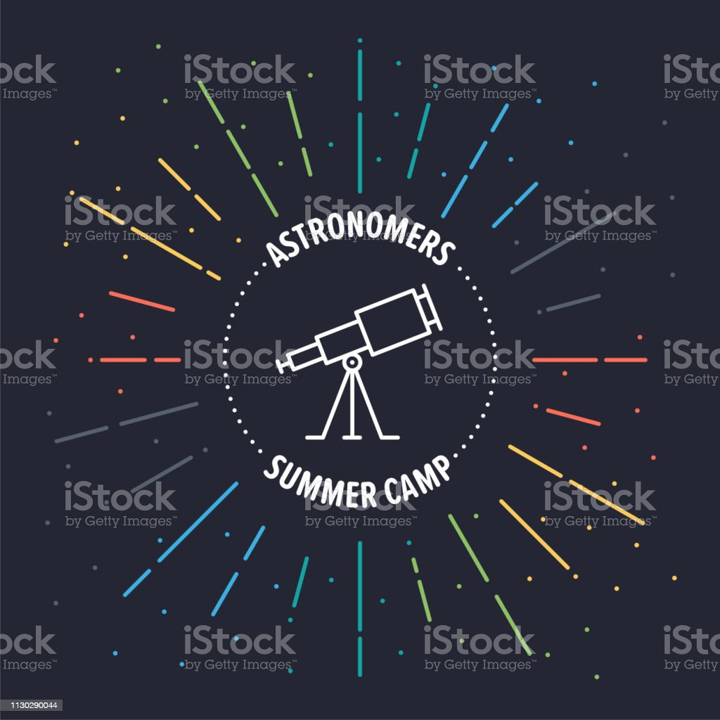 Astronomy Vector Web Banner Illustration With Line Icon Stock Illustration Download Image Now Istock
