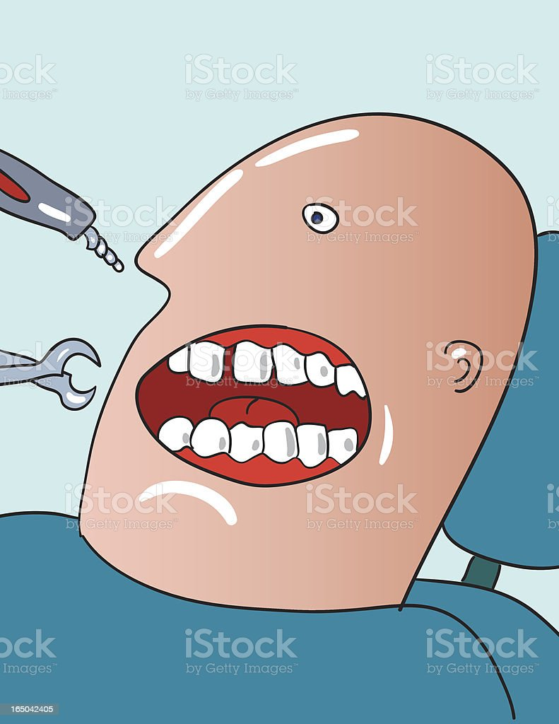 at dentist royalty-free stock vector art