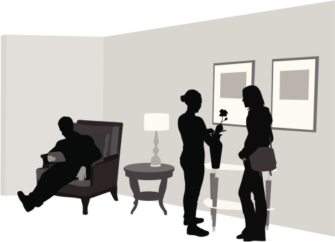 At Home Vector Silhouette