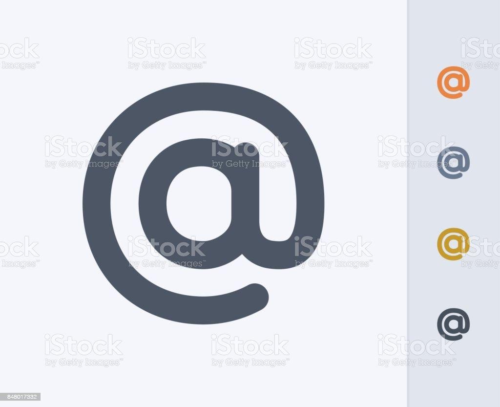 Arobase - icônes de carbone - Illustration vectorielle