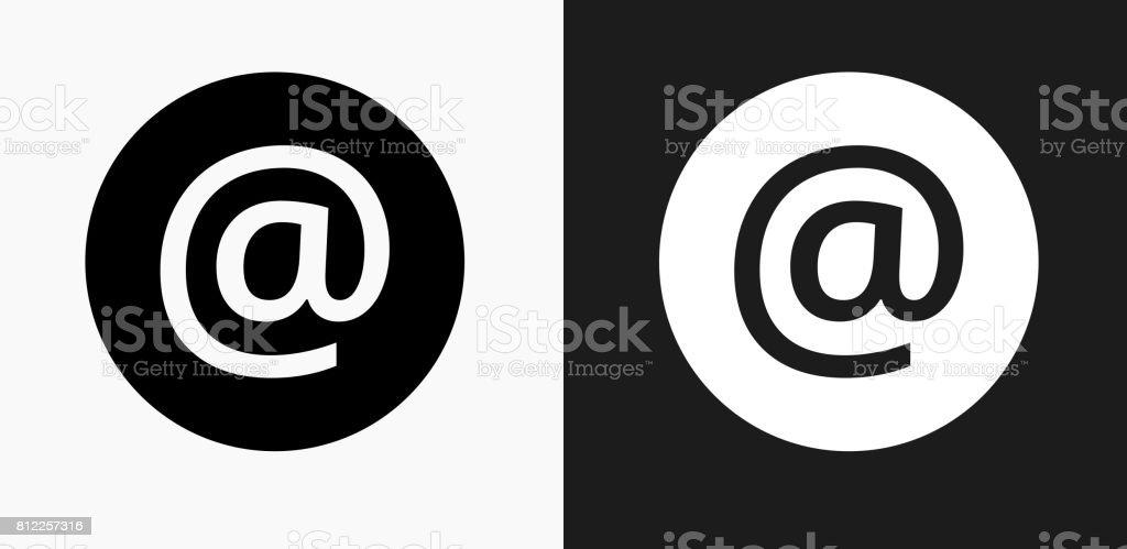 Icône de signe sur noir et blanc Vector Backgrounds - Illustration vectorielle
