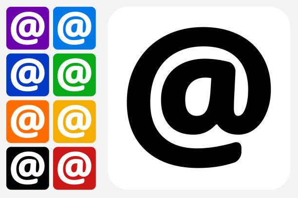Au panneau icône carrée bouton Set - Illustration vectorielle