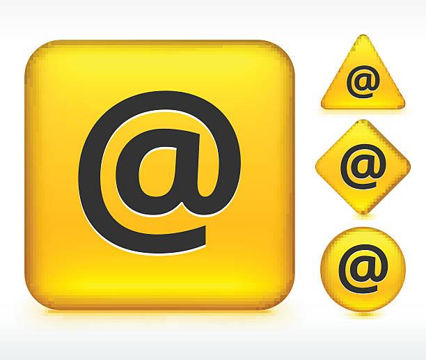Boutons sur le panneau jaune - Illustration vectorielle
