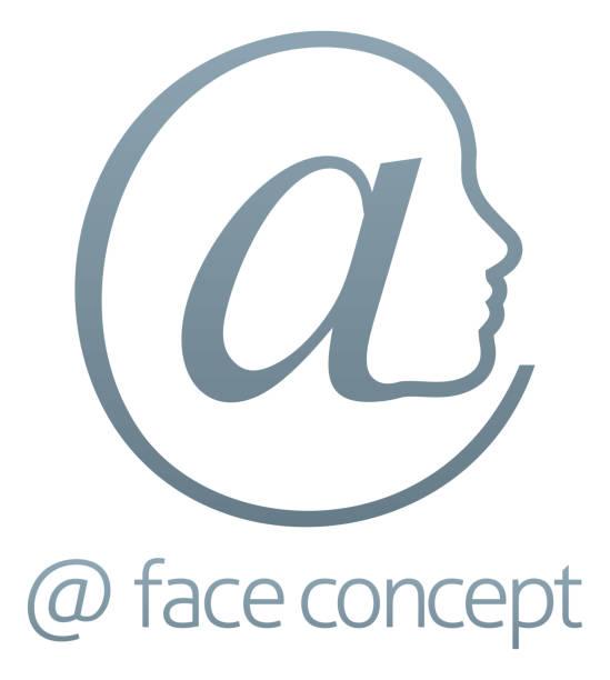 Au signe symbole Face Concept - Illustration vectorielle
