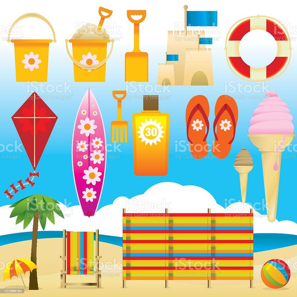 At the Beach royalty-free stock vector art