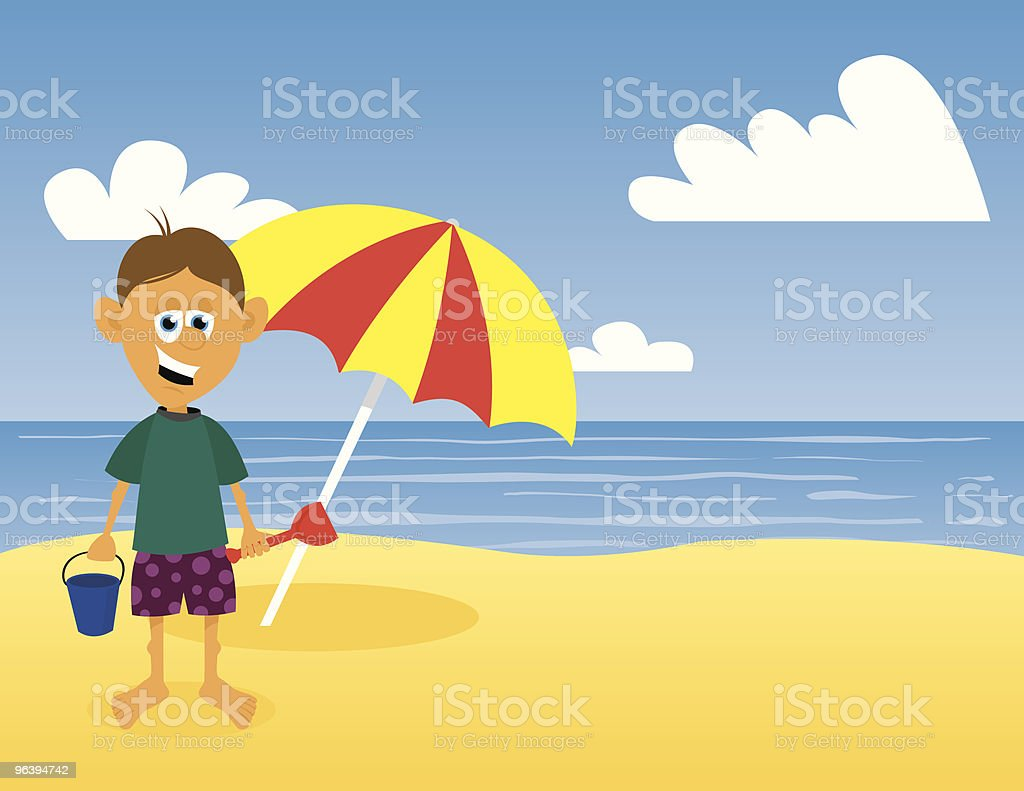 At The Beach - Royalty-free Beach stock vector