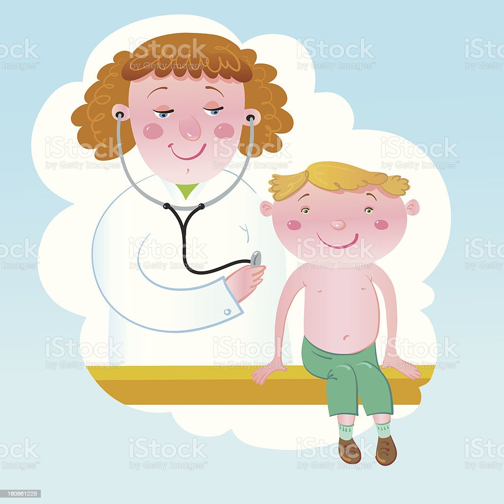 At The Doctor. royalty-free at the doctor stock vector art & more images of baby