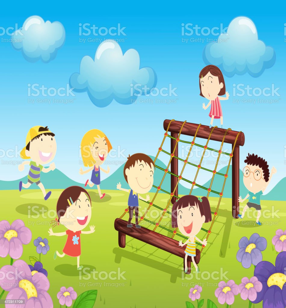 At the park royalty-free stock vector art