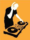 DJ at Turntable