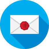 istock At Wax Seal Envelope Icon Flat 1222850864