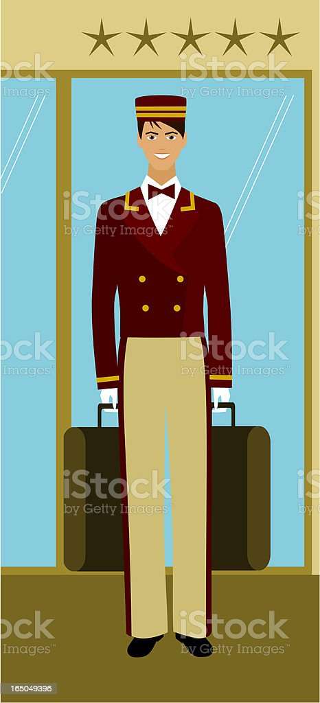 At your service royalty-free stock vector art