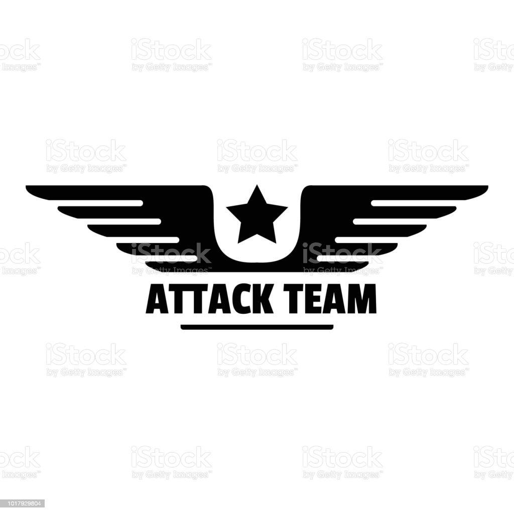 Atack avia team logo, simple style vector art illustration