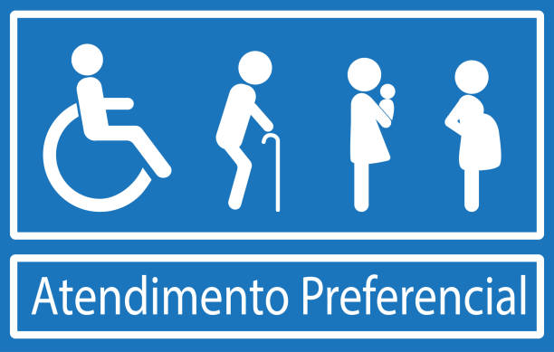 Atención Preferencial es trato prioritario en Portugués - ilustración de arte vectorial