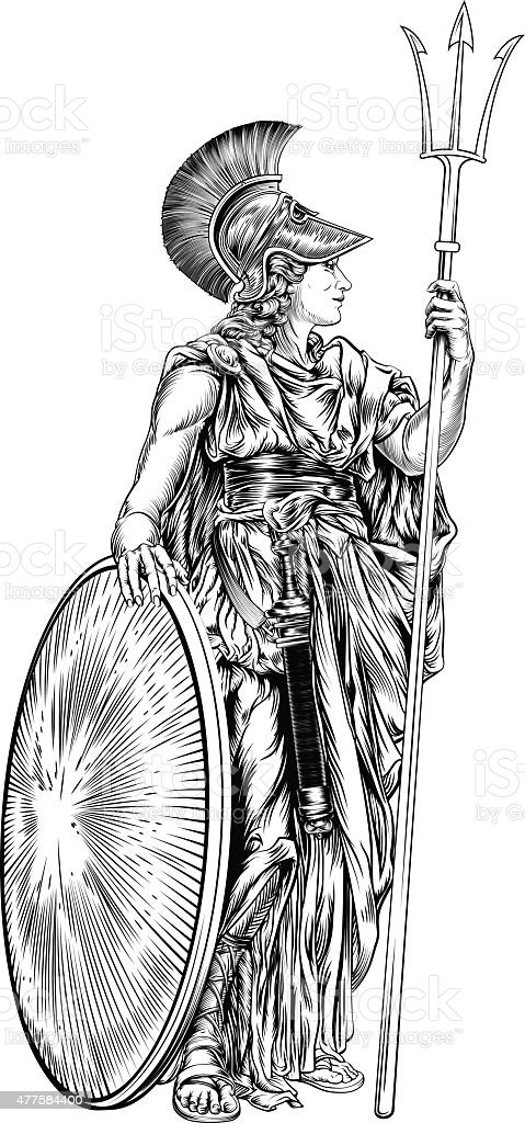 Athena Greek Goddess Stock Vector Art More Images Of 2015