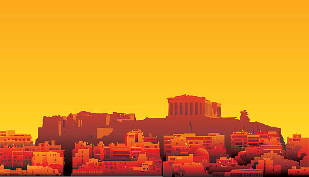 Athens, Greece vector art illustration