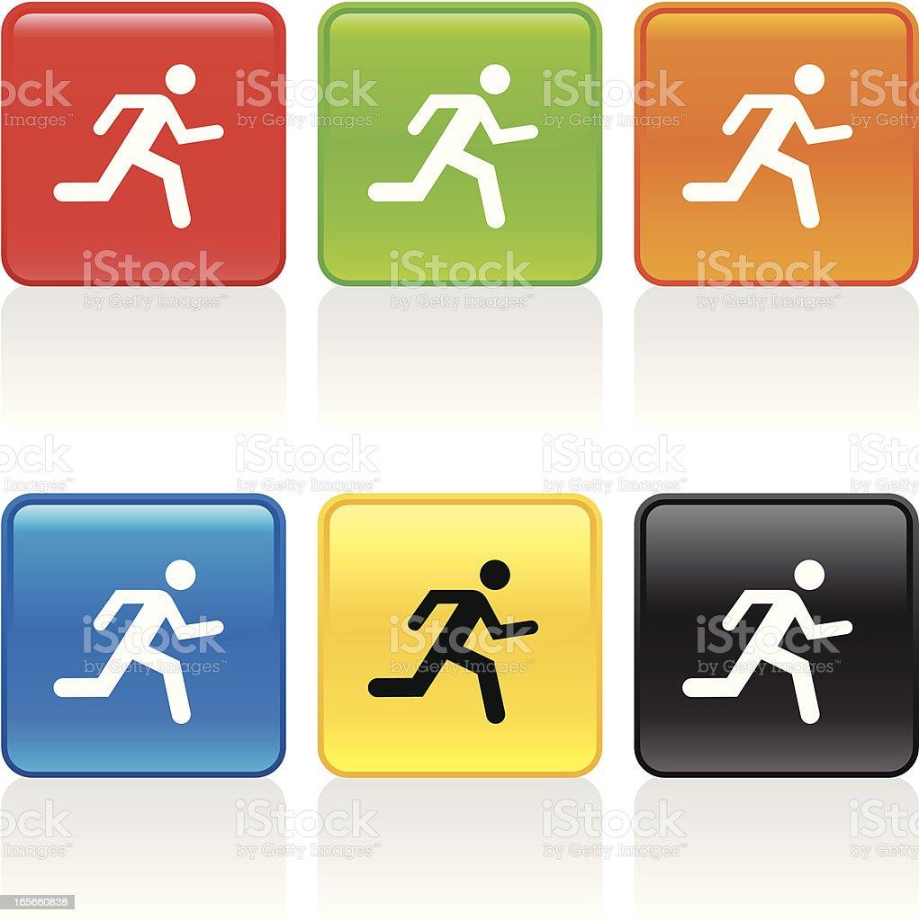 Athlete Icon royalty-free stock vector art