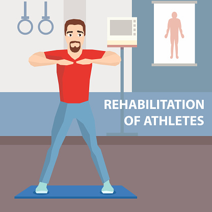 Athlete Physiotherapeutic Rehabilitation Advert