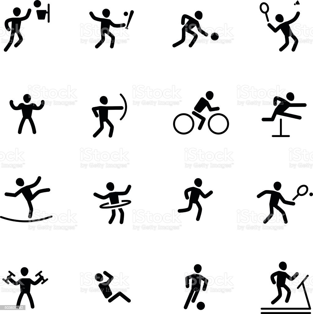 athlete sport action vector icon vector art illustration