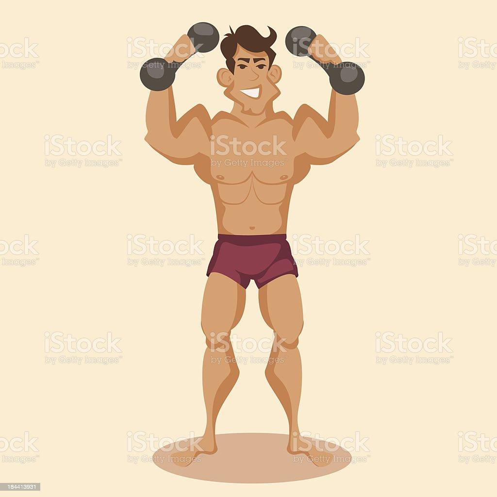 athlete vector art illustration