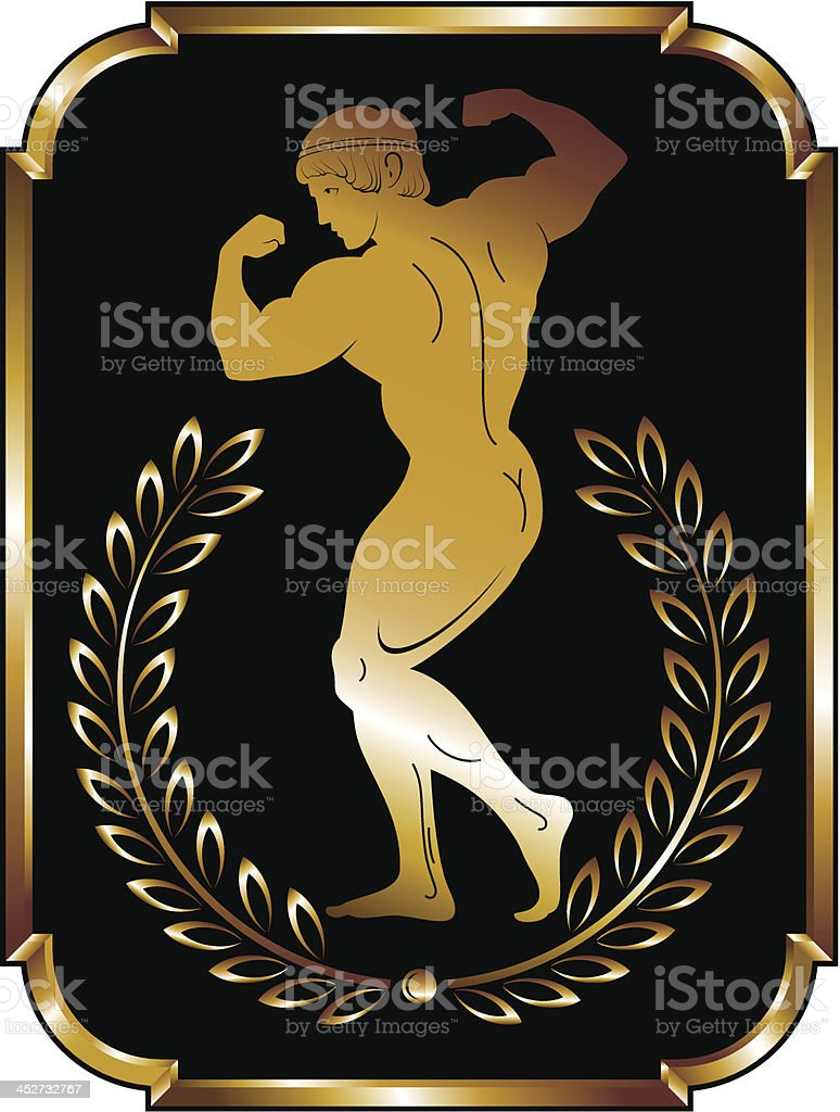 Olympic athlete vector illustration royalty-free stock vector art