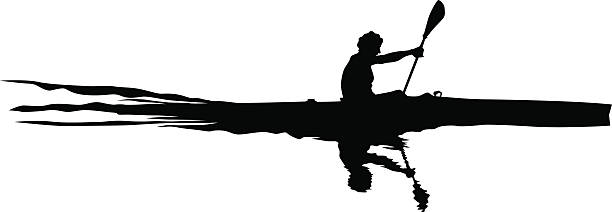 athletes whit kayak - kayaking stock illustrations, clip art, cartoons, & icons