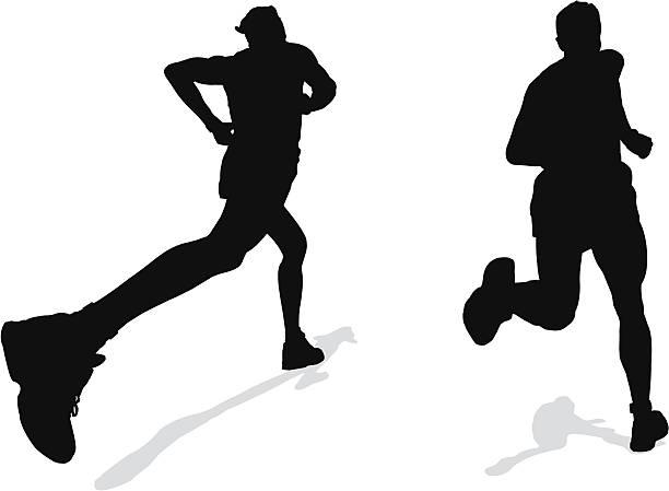 sport- und gesunder läufer - langstreckenlauf stock-grafiken, -clipart, -cartoons und -symbole