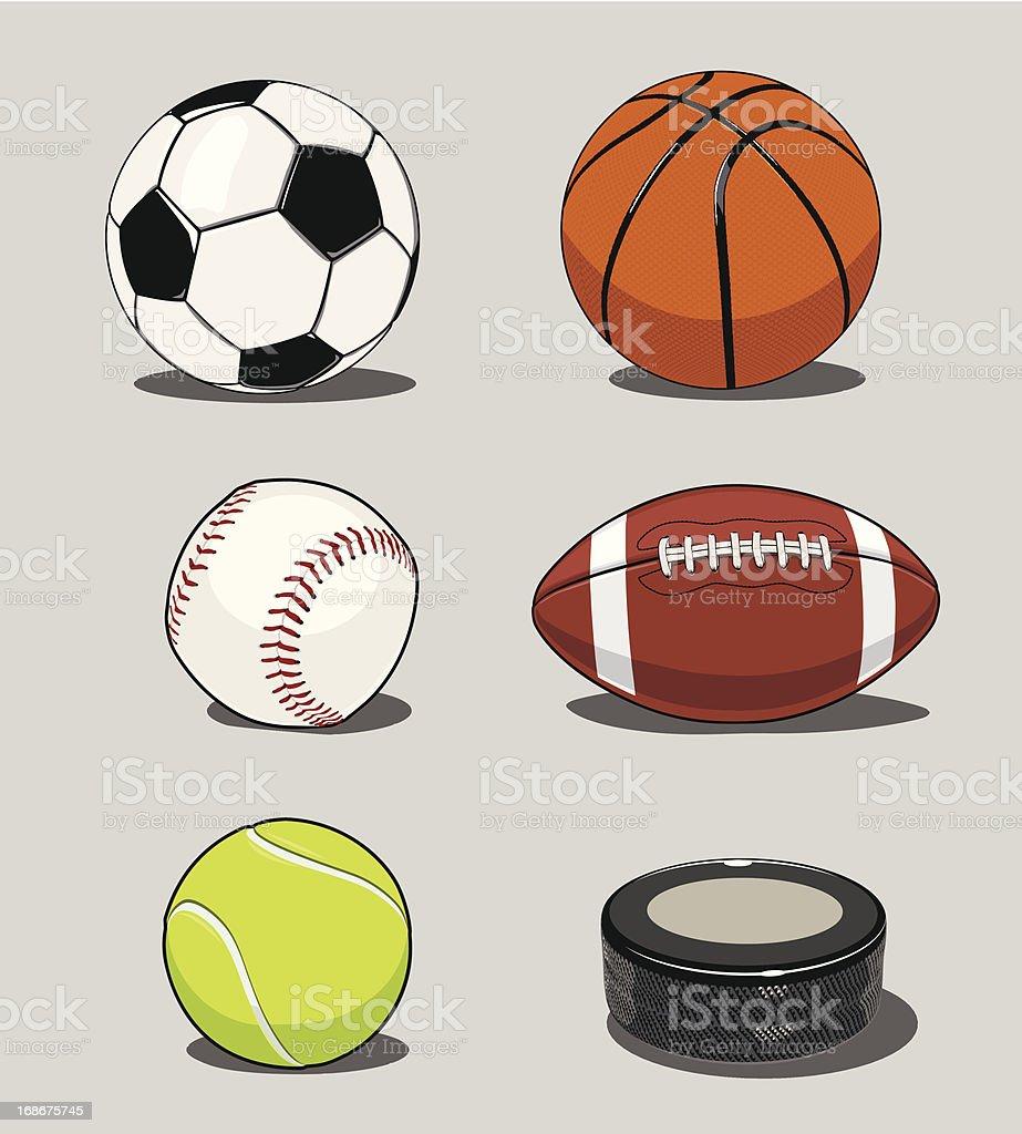 Athletic Balls royalty-free stock vector art