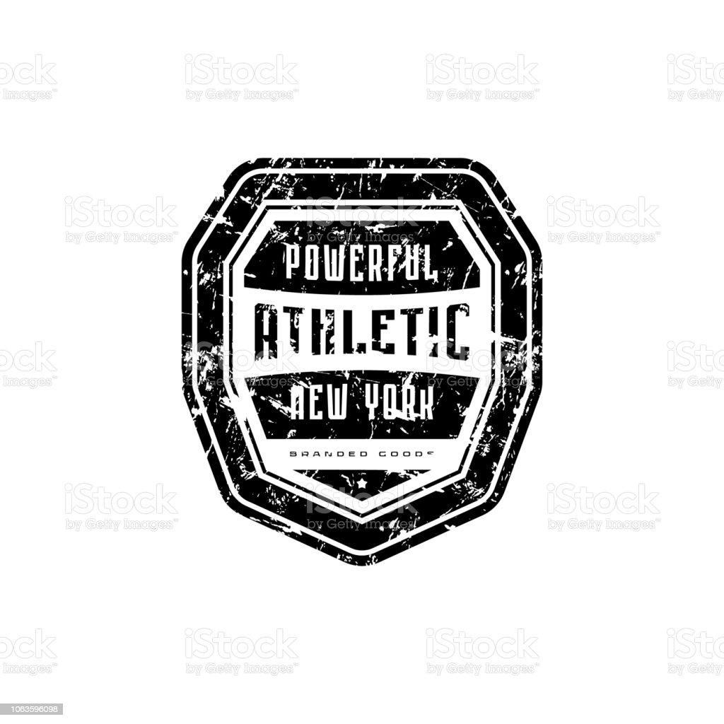 Athletic Emblem For Tshirt Sticker And Tag Stock Illustration