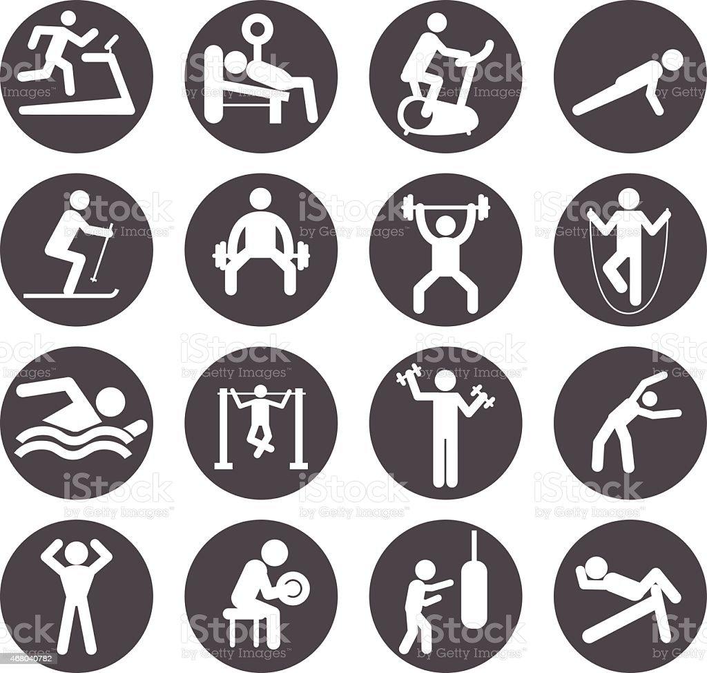 Athletic Gym Gymnasium Body Building Exercise vector art illustration