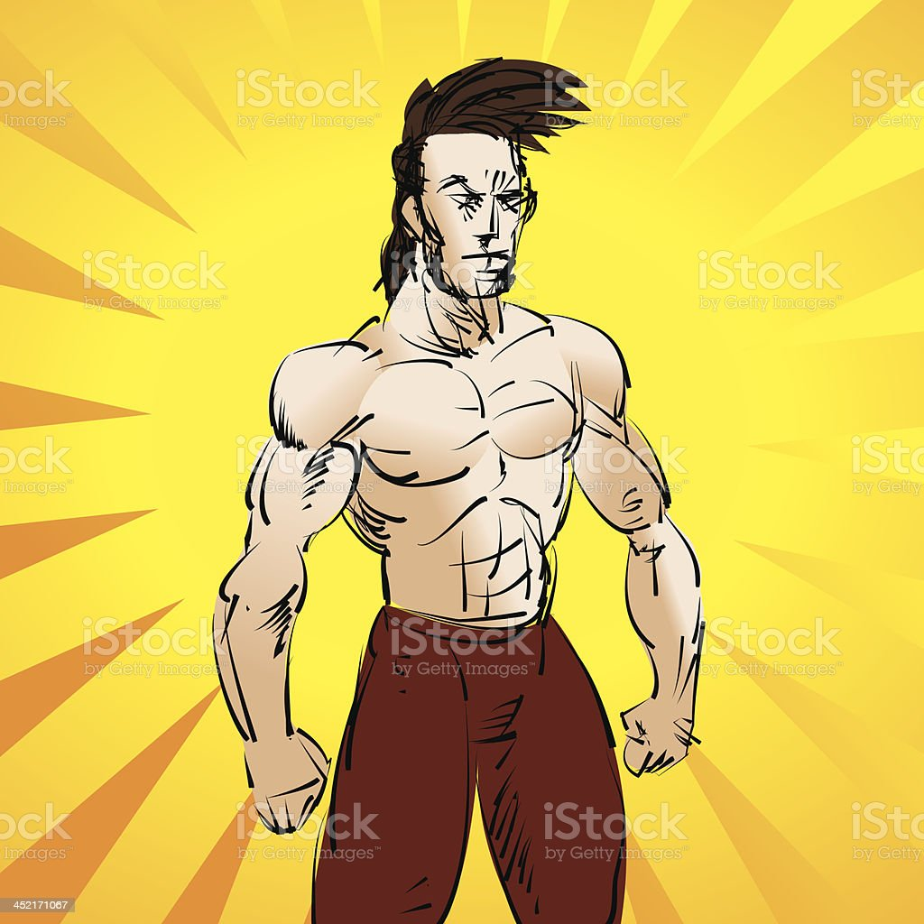 Athletic man royalty-free athletic man stock vector art & more images of adult