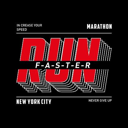 Athletic run sport typography,tee shirt graphics