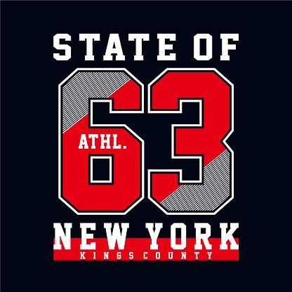 Athletic sport typography, tee shirt graphics