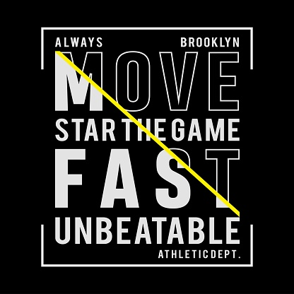 Athletic sport typography, t-shirt graphics, vectors.