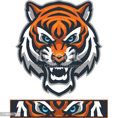 istock Athletic Tiger mascot 1194347528