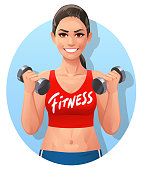 Athletic Young Woman- Fitness Logo