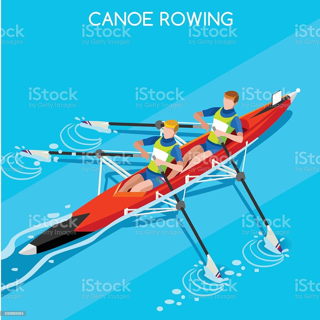 Athletics Canoe Sprint Rowing Summer Games Athlete Sporting Championship Competition Royalty Free