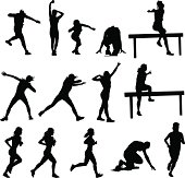 Athletics Silhouettes