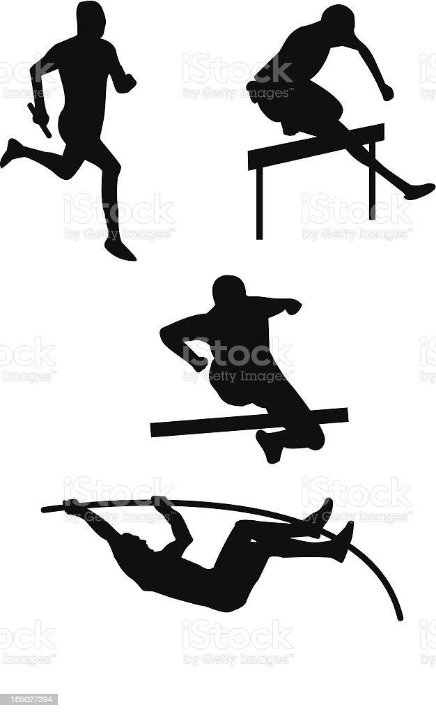 Athletics vector art illustration