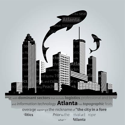 Atlanta cityscape vector.