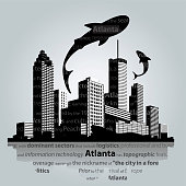 Atlanta city skyline. Vector illustration