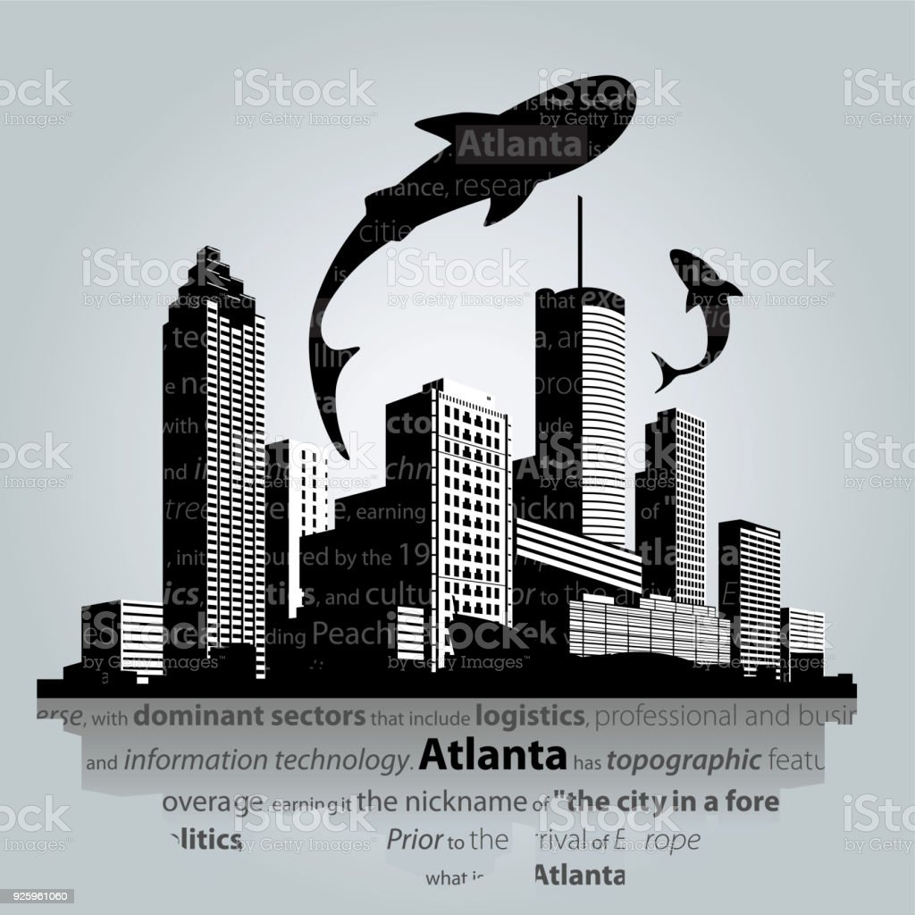 Atlanta cityscape vector. vector art illustration