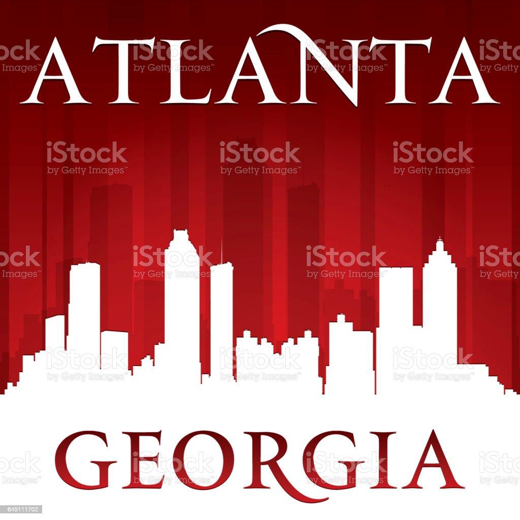 Atlanta Georgia city skyline silhouette vector art illustration