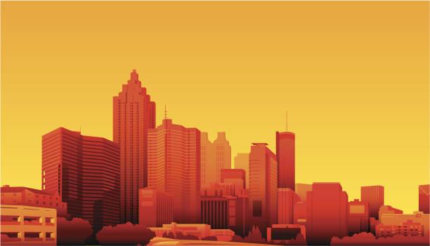 Atlanta, Georgia vector art illustration