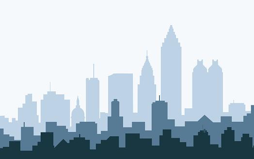 Atlanta Morning Skyline - Vector